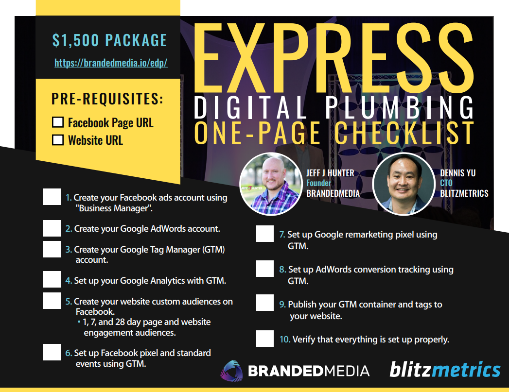 Express Digital Plumbing Checklist